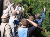 На съемках фильма Эпитафия к жизни. Сцена на мосту через р. Егошиху, Разгуляй г. Пермь